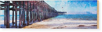 Wood Print featuring the photograph Ventura Pier by Steve Benefiel