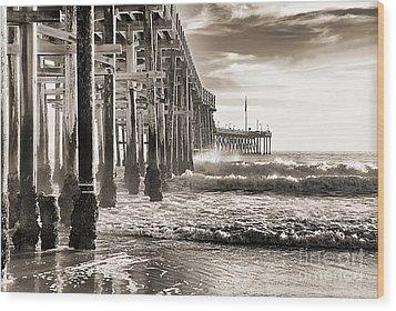 Ventura Pier Study I Wood Print