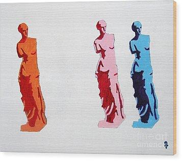 Venus De Milo Statue Wood Print by Venus