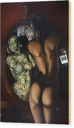 Venus Denaro Sex Sells Wood Print