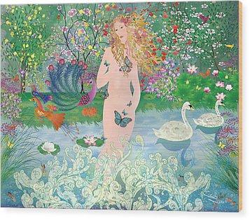 Venus En Primavera Wood Print