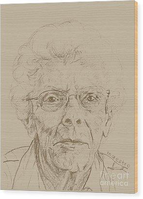 Vera Wood Print by PainterArtist FIN