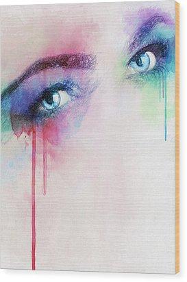 Vera Wood Print by Taylan Apukovska