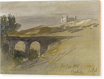 Verdala Malta Wood Print by Edward Lear