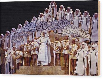 Verdi Aida Wood Print by Shaun Higson