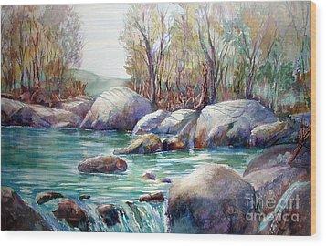 Verdon Gorge Wood Print