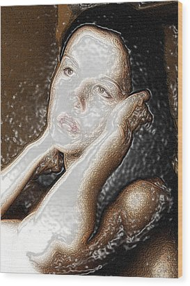 Wood Print featuring the photograph Verity Unmasked by Richard Thomas