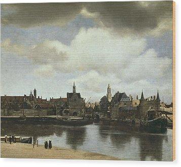 Vermeer, Johannes 1632-1675. View Wood Print by Everett