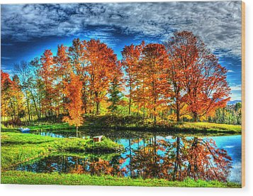 Vermont Colors Wood Print