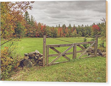 Vermont Countryside Wood Print