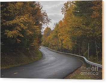 Vermont Fall Wood Print