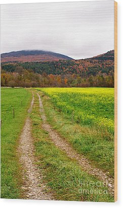 Vermont Farmer's Track Wood Print