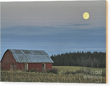 Vermont Full Moon Wood Print