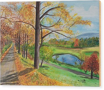 Vermont In The Fall Wood Print