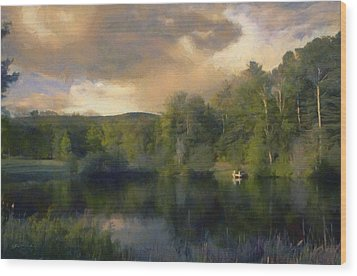 Vermont Morning Reflection Wood Print by Jeff Kolker