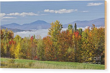 Vermont October Morning Wood Print by Alan L Graham