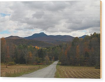 Wood Print featuring the photograph Vermont Road by Alicia Knust