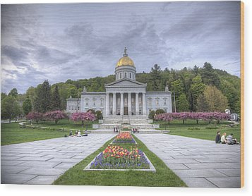 Vermont State House Wood Print