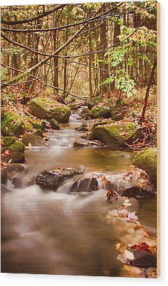 Wood Print featuring the photograph Vermont Stream by Jeff Folger
