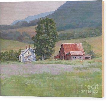 Vermont  Summer Farm Wood Print by Karol Wyckoff