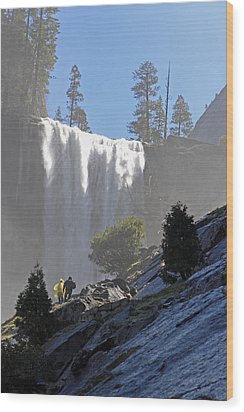 Vernal Falls Mist Trail Wood Print by Duncan Selby