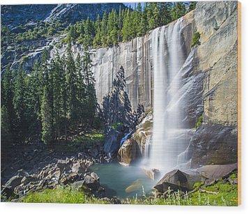 Vernal Falls Yosemite Wood Print by Mike Lee