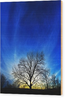 Vernal Sunset Wood Print by ABeautifulSky Photography