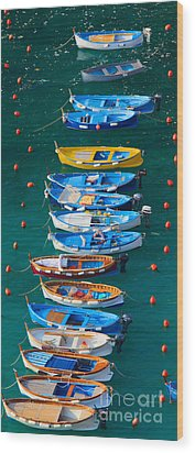 Vernazza Armada Wood Print by Inge Johnsson