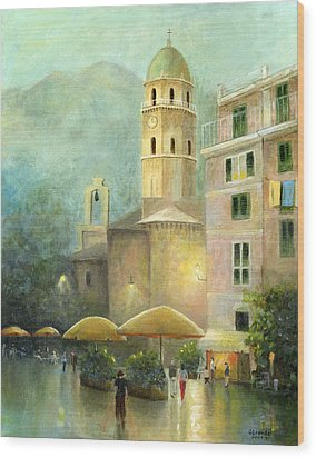Vernazza Italy Wood Print by Cecilia Brendel