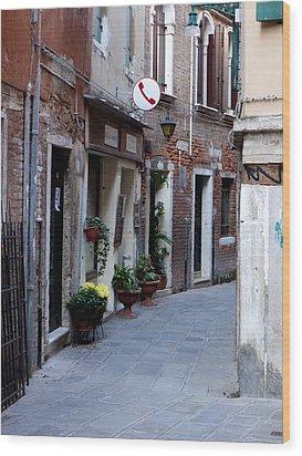 Venetian Alleyway Wood Print by Rae Tucker