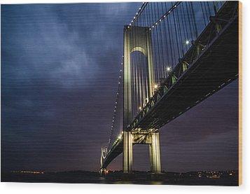 Verrazano-narrows Bridge Wood Print