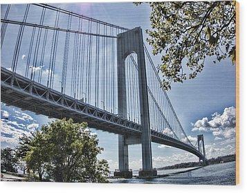 Verrazano Narrows Bridge Wood Print
