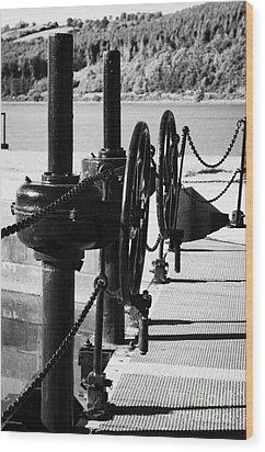 Vertical Newry Ship Canal Lock Gates And Controls At The Newly Refurbished Victoria Lock At Carlingford Lough Wood Print by Joe Fox
