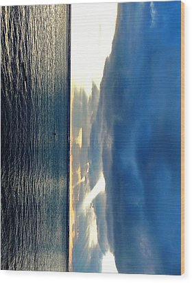 Vertical Wall 4 Wood Print