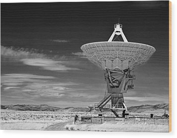 Very Large Array Radio Telescopes Wood Print by Christine Till
