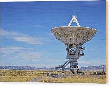 Very Large Array - Vla - Radio Telescopes Wood Print by Christine Till
