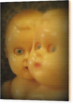 Wood Print featuring the photograph Very Scary Doll by Lynn Sprowl
