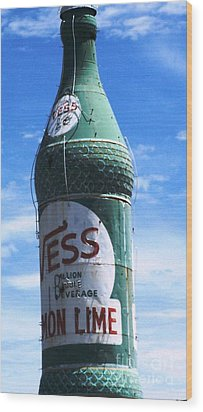 Wood Print featuring the photograph Vess Soda Bottle by Kelly Awad