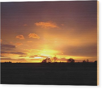 Veteran's Day Sunset 2013 Wood Print
