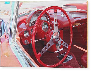Vette Steering Wheel Wood Print