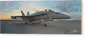 Vfa-14 215 Ready... Wood Print by Dan Quam
