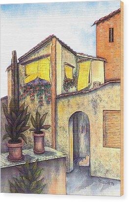 Via Roma Wood Print by Pamela Allegretto