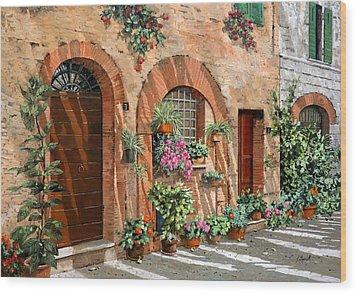 Viaggio In Toscana Wood Print by Guido Borelli