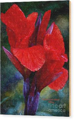 Vibrant Canna Bloom Wood Print