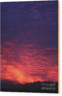 Vibrant Dawn Wood Print by Erica Hanel