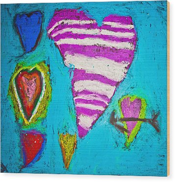 Wood Print featuring the photograph Vibrant Love by Sara Frank