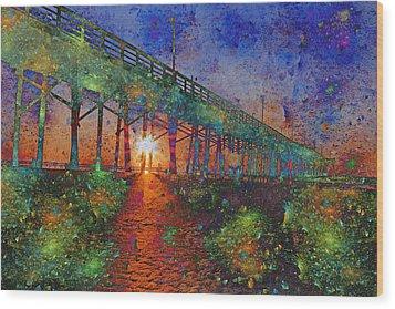 Vibrant Sunrise Wood Print by Betsy Knapp
