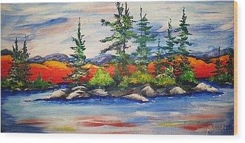 Vibrant Vista Wood Print by Jill Alexander