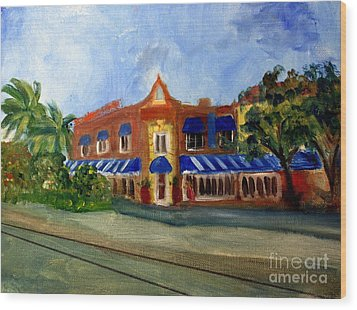 Vic And Angelos In Downtown Delray Beach Wood Print by Donna Walsh