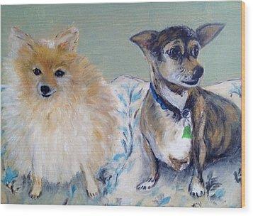 Vick's Dogs Wood Print